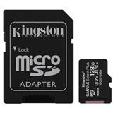128 GB . microSDXC karta Kingston Canvas Select Plus Class 10 (r/w 100MB/s) + adaptér