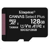 128 GB . microSDXC karta Kingston Canvas Select Plus Class 10 (r/w 100MB/s) bez adaptéra