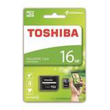 16 GB . microSDHC karta Toshiba M102 Class 4 + adaptér