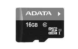 16 GB . microSDHC/SDXC UHS-I karta ADATA class 10 Ultra High Speed + adaper