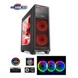 1stCOOL FullTower GAMER 1 AURA RGB LED fan, skrinka ATX, USB3.0, čierna