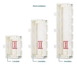 2N Helios IP Verso Krabice pro instalaci do zdi, 1 modul
