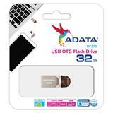 32 GB . USB kľúč . ADATA DashDrive™ Choice UC370, strieborný (USB 3.1 Type-C, )