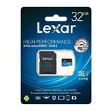 32GB Lexar® High-Performance 633x microSDHC™ UHS-I, up to 100MB/s read 20MB/s write C10 A1 V10 U1, Global