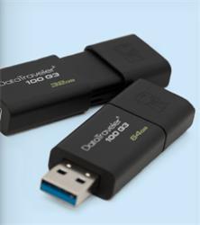 64 GB . USB 3.0 kľúč . Kingston DataTraveler 100 G3 ( r100MB/s, w10MB/s )
