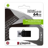 64 GB . USB 3.1 kľúč . Kingston DataTraveler MicroDuo 3 Gen2 + microUSB (Android/OTG)