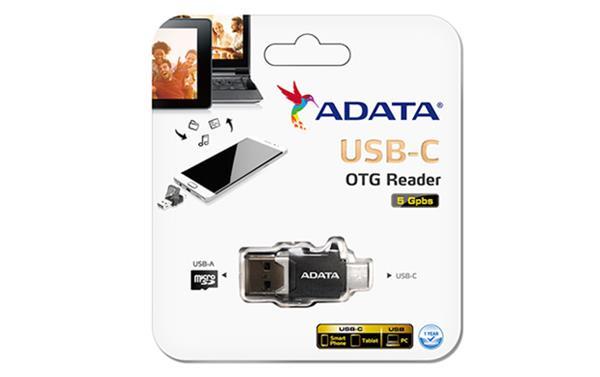 A-DATA Reader USB-C OTG, čierna