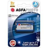 AgfaPhoto Power alkalická batéria 9V, blister 1ks