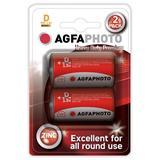 AgfaPhoto zinková batéria 1.5V, R20/D, blister 2ks