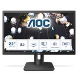 "AOC 22E1Q 21,5""W LED MVA 1920x1080 20 000 000:1 5ms 250cd DP HDMI repro cierny"