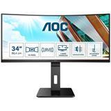"AOC CU34P2A 34""W VA LED 3440x1440 50 000 000:1 4ms 300cd HDMI DP USB pivot cierny"