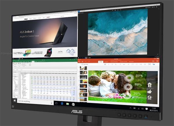 """ASUS BE24EQSB 24"""" IPS 1920x1080 FHD 100mil:1 5ms 300cd 2xUSB D-Sub HDMI DP repro"""