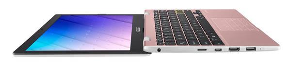 "ASUS E210MA-GJ193TS Celeron N4020 11,6"" HD matny UMA 4GB 128G iSSD WL Cam W10S ruzovy NumPad"