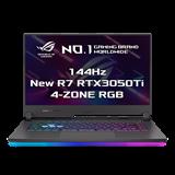 """ASUS ROG Strix G15 G513QE-HN010T AMD R7-5800H 15.6"""" FHD mat 144Hz RTX3050Ti/4GB 16GB 512GB SSD WL BT W10 CS;"""