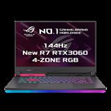 """ASUS ROG Strix G15 G513QM-HN105T AMD R7-5800H 15.6"""" FHD mat 144Hz RTX3060/6GB 16GB 512GB SSD WL BT W10 CS;ElectroPunk"""
