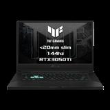 """ASUS TUF Dash F15 FX516PE-HN023T Intel i7-11370H 15.6"""" FHD 144Hz matny RTX3050-4GB 16GB 1TB SSD WL BT W10 CS;sedy"""