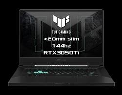 """ASUS TUF Dash F15 FX516PE-HN023T Intel i7-11370H 15.6"""" FHD 144Hz matny RTX3050Ti/4GB 16GB 1TB SSD WL BT W10 CS;sedy"""