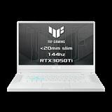 """ASUS TUF Dash F15 FX516PE-HN044T Intel i5-11300H 15.6"""" FHD 144Hz matny RTX3050Ti/4GB 16GB 512GB SSD WL BT W10 CS;biely"""