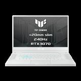 """ASUS TUF Dash F15 FX516PR-AZ024T Intel i7-11370H 15.6"""" FHD IPS 240Hz matny RTX3070-8GB 16GB 1TB SSD WL BT W10 CS;biely"""