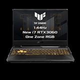 """ASUS TUF Gaming F15 FX506HM-HN019T Intel i7-11800H 15.6"""" FHD IPS 144Hz mat RTX3060/6G 16GB 512GB SSDWL BT Cam W10 CS;Num"""