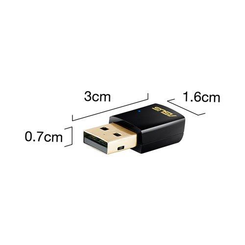 ASUS USB-AC51, Dualband Wireless LAN N USB Adapter AC600