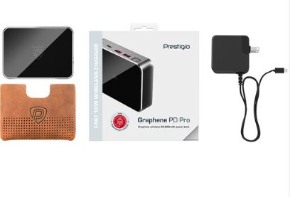BAZ_Prestigio Grafénová PowerBanka, nabíja viacero zariadení, viacúrovňový bezpečnostný systém, 20 000 mAh