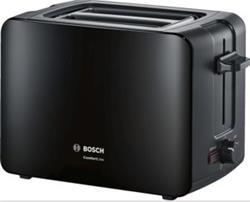 BOSCH_915-1090 W,termostat s časovačom,držiak na žemle, retoasting,auto vyp.,tepelne izolovaný plášť,čierna