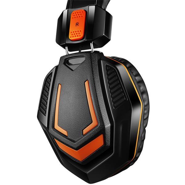 Canyon CND-SGHS3A Fobos, herný headset pre pokročilých hráčov, 3.5mm jack, oranžovo čierny