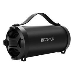 Canyon CNE-CBTSP6 Bluetooth V4.2 Outdoor reproduktor, 3.5mm mini jack, micro USB, microSD, FM, 1500mAh polymer, čierny