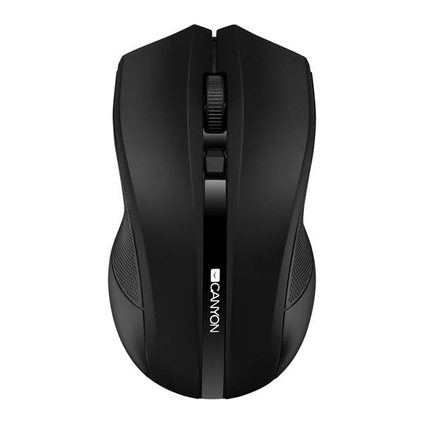 Canyon CNE-CMSW05B, Wireless optická myš USB, 800/1200/1600 dpi, 4 tlač, čierna