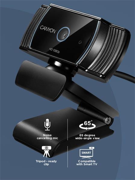 Canyon CNS-CWC5 webkamera, Live Streaming, 1080p Full HD, 2.0 Mpixel, USB 2.0, 360° rozsah, mikrofón