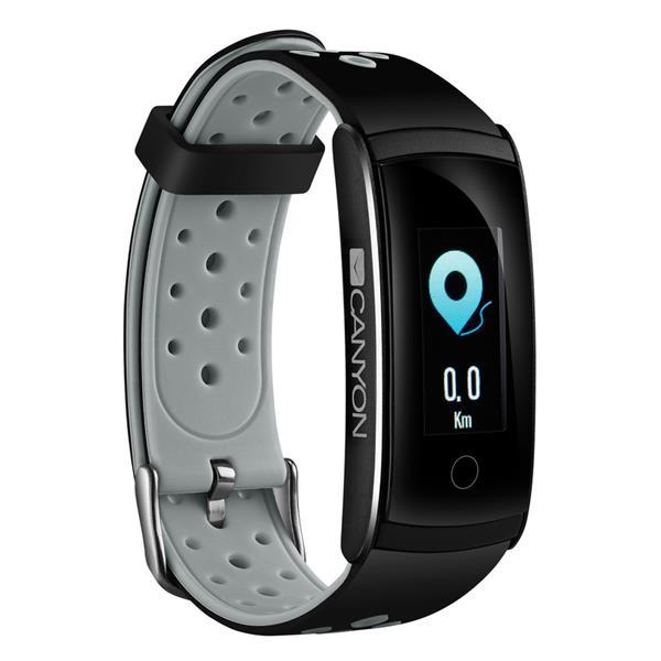 Canyon CNS-SB41BR smart hodinky, Bluetooth, farebný LCD displej 0.96´´, vodotesné IP 68, multišport režim, čierno-šedý