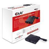 Club3D MINI USB-C Smart Docking Station (RJ45+USB3.0+USB-C Charger )