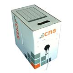 CNS kabel FTP, Cat5E, drát, PVC, box 100m - šedá