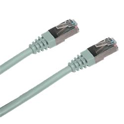 CNS patch kábel Cat5E, FTP - 3m , šedý