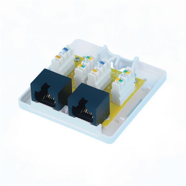 CNS Zásuvka Basic UTP 2 port, Cat6 na om. biela