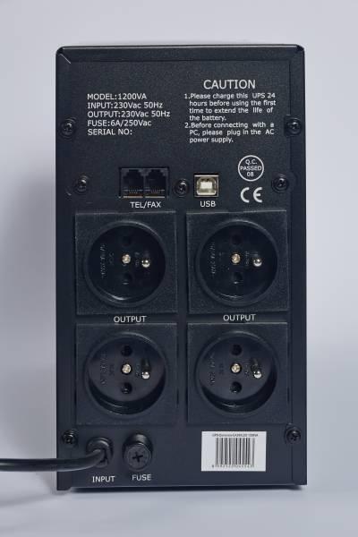 EAST UPS 1200VA LINE INTERACTIVE, 4x FR zásuvka, RJ11, USB data