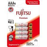 Fujitsu Premium Power alkalická batéria 1.5V, LR03/AAA, blister 4ks