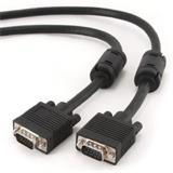 Gembird kábel VGA HD15 (M) na VGA HD15 (M) Premium, tienený, 2 x feritové jadrá, 20m,čierny