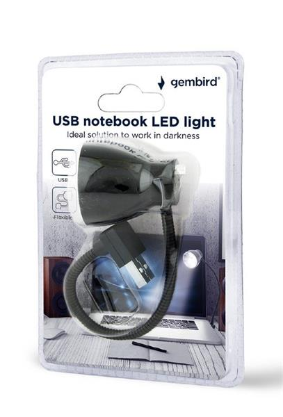 Gembird Notebook LED USB light, čierne