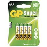 GP - Super Alkalická AAA, microtužková batéria, blister 4ks