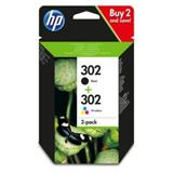 HP 302 Ink Cartridge Combo 2-Pack (X4D37AE)