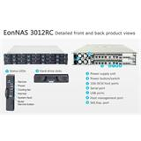 Infortrend,EonNAS 3012SC 2U, 12-bay, Single Contr. (4x1GbE,1xHost Board),1x Celeron CPU,4GB RAM, 2x600W