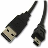 Kábel USB A-MINI 5PM 2.0, 1,8m HQ Black
