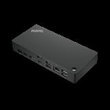 Lenovo ThinkPad USB-C Dock - 90W (2x DP, 1x HDMI, RJ45, 3x USB 3.1, 2x USB 2.0, 1x USB-C, adapter) pripojit max. 2x LCD