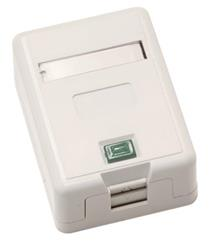 LEXI Zásuvka Basic UTP 1 port, Cat6 na om. biela