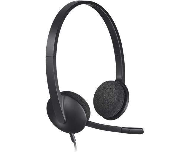 Logitech® H340 USB Headset - BLACK - USB - EMEA
