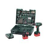 Metabo BS 12 NiCd Set Mobilná dielňa, 12-Voltová Akumulátorová vŕtačka so skrutkovačom