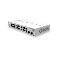 Mikrotik 24 Gigabit ports, 2 SFP+ cages and a desktop case – server room power for your home!