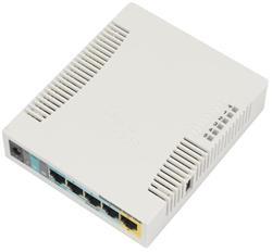 MIKROTIK RouterBOARD 951Ui-2HnD + L4 (600MHz, 128MB RAM, 5xLAN switch, 1x 2,4GHz, plastic case, zdroj)